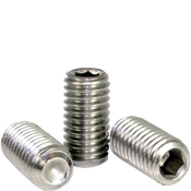 "#10-24x1/2"" Socket Set Screws Cup Point Coarse 18-8 Stainless (100/Pkg.)"