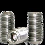 "1/4""-28x1-1/4"" Socket Set Screws Cup Point Fine 18-8 Stainless (100/Pkg.)"