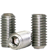 "1/4""-28x1-3/4"" Socket Set Screws Cup Point Fine 18-8 Stainless (100/Pkg.)"