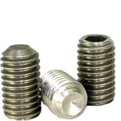 M6-1.00x6 MM Socket Set Screws Cup Point Coarse 18-8 Stainless (100/Pkg.)