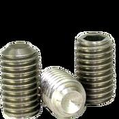 M8-1.25x12 MM Socket Set Screws Cup Point Coarse 18-8 Stainless (100/Pkg.)