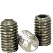 "1/4""-28x1/4"" Socket Set Screws Cup Point Fine Stainless 316 (100/Pkg.)"