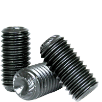 #8-32x1//4 UNC KNURLED CUP POINT SOCKET SET SCREW | Size: #8-32 ALLOY QUANTITY: 100 Length: 1//4 Coarse Thread | Finish: Black Oxide INCH alloy/_steel THERMAL BLACK OXIDE