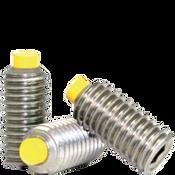 "1/4""-28x3/8"" Socket Set Screws Cup Point Fine 18-8 Stainless w/ Nylon-Tip (100/Pkg.)"