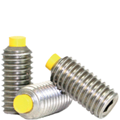"3/8""-16x1"" Socket Set Screws Cup Point Coarse 18-8 Stainless w/ Nylon-Tip (100/Pkg.)"
