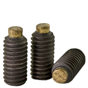 M6-1.00x16 MM Brass-Tip Socket Set Screws Cup Point Coarse Alloy (100/Pkg.)