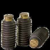 M8-1.25x25 MM Brass-Tip Socket Set Screws Cup Point Coarse Alloy (100/Pkg.)
