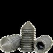 "#10-24x1/4"" Standard Socket Set Screws Cone Point Coarse Alloy Thermal Black Oxide (100/Pkg.)"