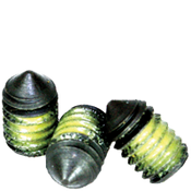 "#10-24x1/4"" Socket Set Screws Cone Point Coarse Alloy w/ Nylon-Patch Thermal Black Ox (100/Pkg.)"