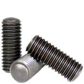 "#4-40x1/2"" Socket Set Screws Oval Point Coarse Alloy Thermal Black Oxide (100/Pkg.)"