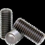 "#8-32x3/4"" Socket Set Screws Oval Point Coarse Alloy Thermal Black Oxide (100/Pkg.)"