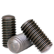 "#10-24x3/8"" Socket Set Screws Oval Point Coarse Alloy Thermal Black Oxide (100/Pkg.)"