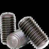 """1/4""""-28x1/4"""" Socket Set Screws Oval Point Fine Alloy Thermal Black Oxide (100/Pkg.)"""