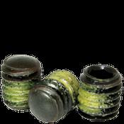 "3/8""-16x3/4"" Socket Set Screws Oval Point Coarse Alloy w/ Nylon-Patch Thermal Black Ox (100/Pkg.)"