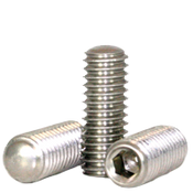 "#10-24x1/2"" Socket Set Screws Oval Point Coarse 18-8 Stainless (100/Pkg.)"