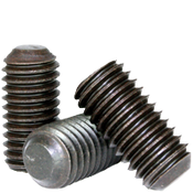 "#8-32x5/8"" Standard Socket Set Screws Flat Point Coarse Alloy Thermal Black Oxide (100/Pkg.)"