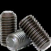M8-1.25x35 MM Socket Set Screws Flat Point 45H Coarse Alloy ISO 4026 / DIN 913 (100/Pkg.)