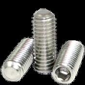 "#4-40x1/4"" Socket Set Screws Flat Point Coarse 18-8 Stainless (100/Pkg.)"