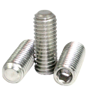 "#8-32x3/8"" Socket Set Screws Flat Point Coarse 18-8 Stainless (100/Pkg.)"