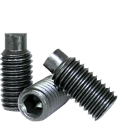 M5-0.80x6 MM Socket Set Screws Dog Point 45H Coarse Alloy ISO 4028 / DIN 915 (100/Pkg.)