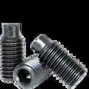 M8-1.25x12 MM Socket Set Screws Dog Point 45H Coarse Alloy ISO 4028 / DIN 915 (100/Pkg.)