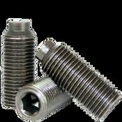 """#10-24x5/8"""" Socket Set Screws 1/2 Dog Point Coarse Alloy Thermal Black Oxide (100/Pkg.)"""