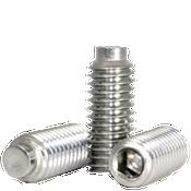 "#8-32x5/16"" Socket Set Screws 1/2 Dog Point Coarse 18-8 Stainless (100/Pkg.)"