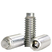 "#10-24x3/16"" Socket Set Screws 1/2 Dog Point Coarse 18-8 Stainless (100/Pkg.)"
