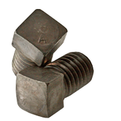 "5/8""-11x2"" (FT) Square Head Set Screw, Cup Point, Coarse, Alloy Thru-Hardened (25/Pkg.)"