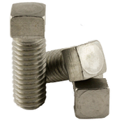 "1/4""-20x5/8"" (FT) Square Head Set Screw, Cup Point, Coarse, A2 Stainless Steel (18-8) (100/Pkg.)"