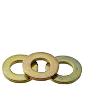 "1/4"" Flat Washers Med. Carbon Extra Heavy SAE Zinc-Yellow (USA) (100/Pkg.)"