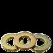 "1/2"" Flat Washers Med. Carbon Extra Heavy SAE Zinc-Yellow (USA) (100/Pkg.)"