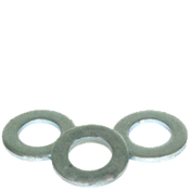 M5 Flat Washers, Narrow, ASME B18.22M, Thru-Hardened Zinc Cr+3 (USA) (400/Pkg.)