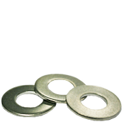 "1/4""X5/8""X0.037 Flat Washers 18-8 A2 Stainless Steel, Standard (100/Pkg.)"