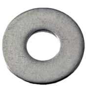 """1/4""""X1/2""""X0.063 Flat Washers 18-8 A2 Stainless Steel N400 (100/Pkg.)"""