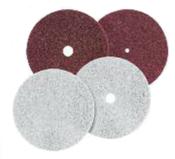 """Non-Woven Edger Pads - 7"""" x 1/4"""" x 7/8"""" Hole - White, Mercer Abrasives 452778 (20/Pkg.)"""