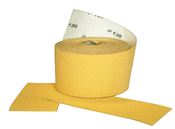 "Premium Gold Stearated Rolls - PSA 2-1/2""x 10 YD, Grit: 320C, Qty: 11, Mercer Abrasives 565320 (Qty. 1)"