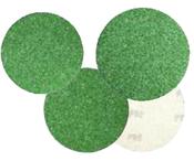 """Premium Green Aluminum Oxide Paper Discs - PSA 6"""", Grit/Wt: 36E, Mercer Abrasives 571036 (50/Pkg.)"""