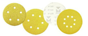 "Premium Gold Stearated Discs - Hook & Loop Discs 6"" x 8 Dust Holes, Grit/ Weight: 320C, Mercer Abrasives 552832 (50/Pkg.)"