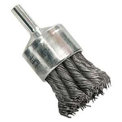 "Knot End Brushes for Drills and Die Grinders - Carbon Steel - 3/4"" x 1/4"" Shank, Mercer Abrasives 181010B (20/Pkg.)"