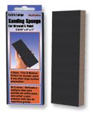 """Extra Large Sanding Sponge - 3-5/16"""" x 9"""" x 1"""", Grade: Fine, Grit: 220, Mercer Abrasives 278LFI (12/Pkg.)"""
