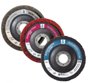 "Surface Preparation Wheel - 4-1/2"" x 7/8"" - Coarse, Qty. 20, Mercer Abrasives 396BLK (10/Pkg.)"