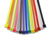 "8.6"" Colored Cable Ties 40 lb. - Assorted Color Options (1000/Bag)"