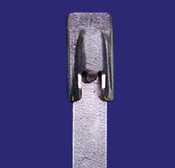 """14"""" 304 Stainless Steel Cable Ties 150 lb. (100/Bag)"""