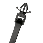 "8"" UV Black Push Mount Cable Ties 50 lb. - With Wings (500/Bag)"