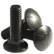 "1/2""-13x5-1/2 Fully Threaded Carriage Bolts Grade 5 Coarse Zinc Cr+3 (25/Pkg.)"