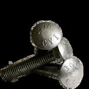 """5/8""""-11x7-1/2 6"""" Thread Under-Sized Carriage Bolts A307 Grade A Zinc Cr+3 (25/Pkg.)"""