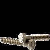 """1/2""""-6x6"""" Hex Lag Screws Coarse 18-8 Stainless Steel (100/Bulk Pkg.)"""