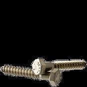 """3/8""""-7x1-1/4"""" Hex Lag Screws Coarse 18-8 Stainless Steel (700/Bulk Pkg.)"""