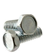 "#12-24x1/2"" F/T Machine Screw Indented Hex Head Unslotted Coarse Zinc Cr+3 (100/Pkg.)"